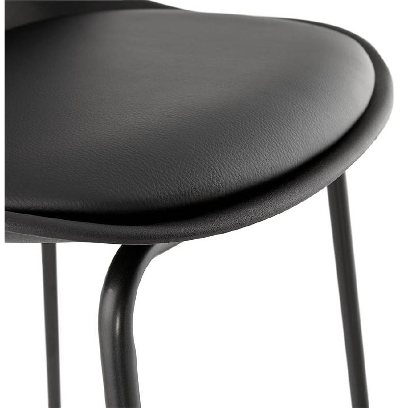 tabouret de bar chaise de bar mi hauteur industriel oceane mini noir. Black Bedroom Furniture Sets. Home Design Ideas