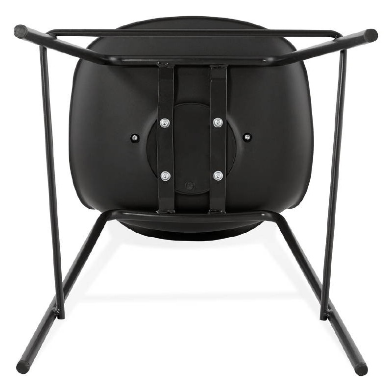 Bar bar halfway up industrial OCEANE MINI (black) chair stool - image 37393