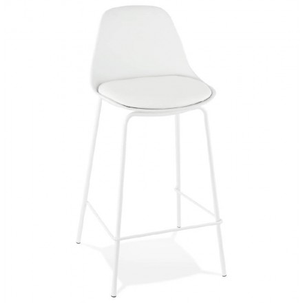 Bar bar halfway up industrial OCEANE MINI (white) chair stool