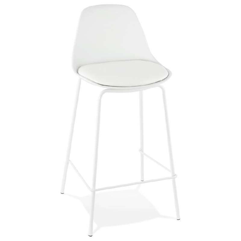 Bar bar halfway up industrial OCEANE MINI (white) chair stool - image 37395