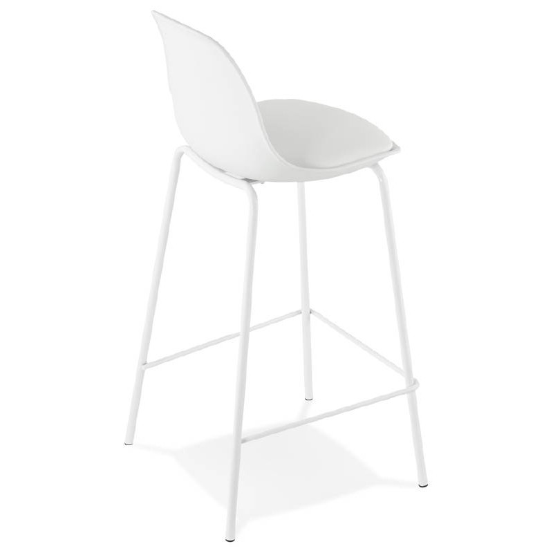 Bar bar halfway up industrial OCEANE MINI (white) chair stool - image 37398