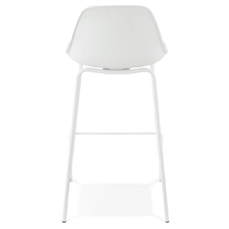 Bar bar halfway up industrial OCEANE MINI (white) chair stool - image 37399
