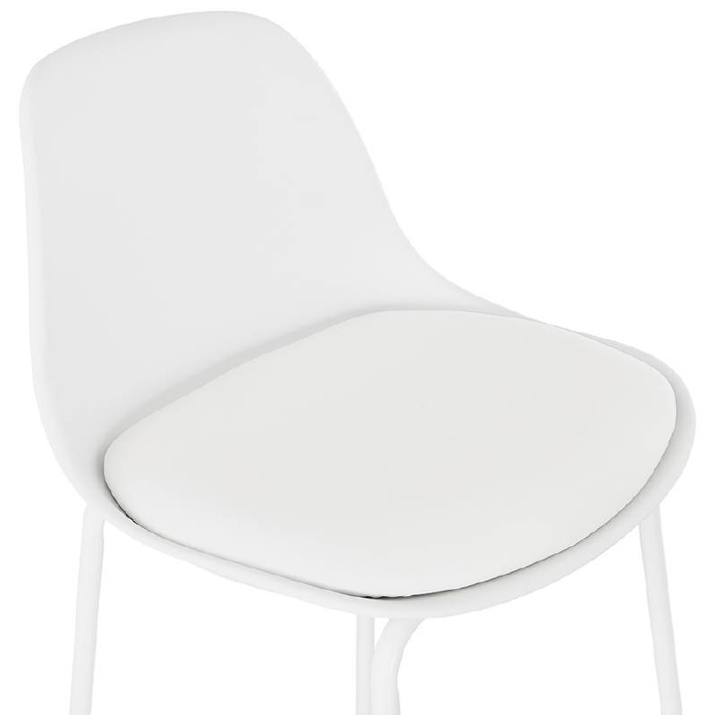 Bar bar halfway up industrial OCEANE MINI (white) chair stool - image 37400