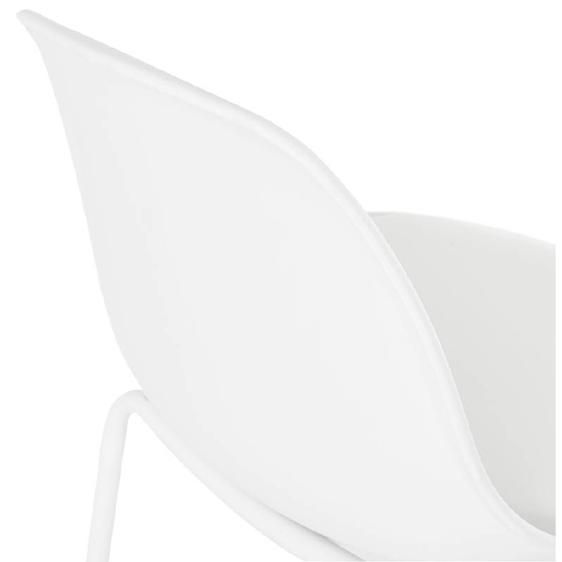 Bar bar halfway up industrial OCEANE MINI (white) chair stool - image 37402