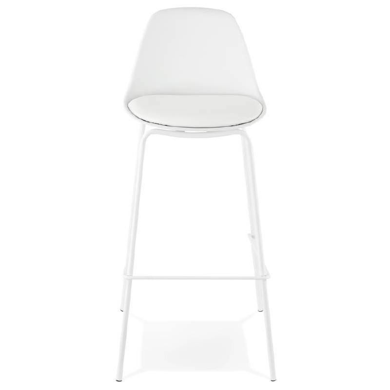 Tabouret de bar chaise de bar industriel OCEANE (blanc) - image 37421
