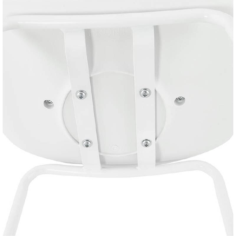 Tabouret de bar chaise de bar industriel OCEANE (blanc) - image 37431