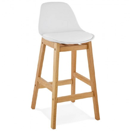 Bar bar Scandinavian design mid-height FLORENCE MINI (white) chair stool