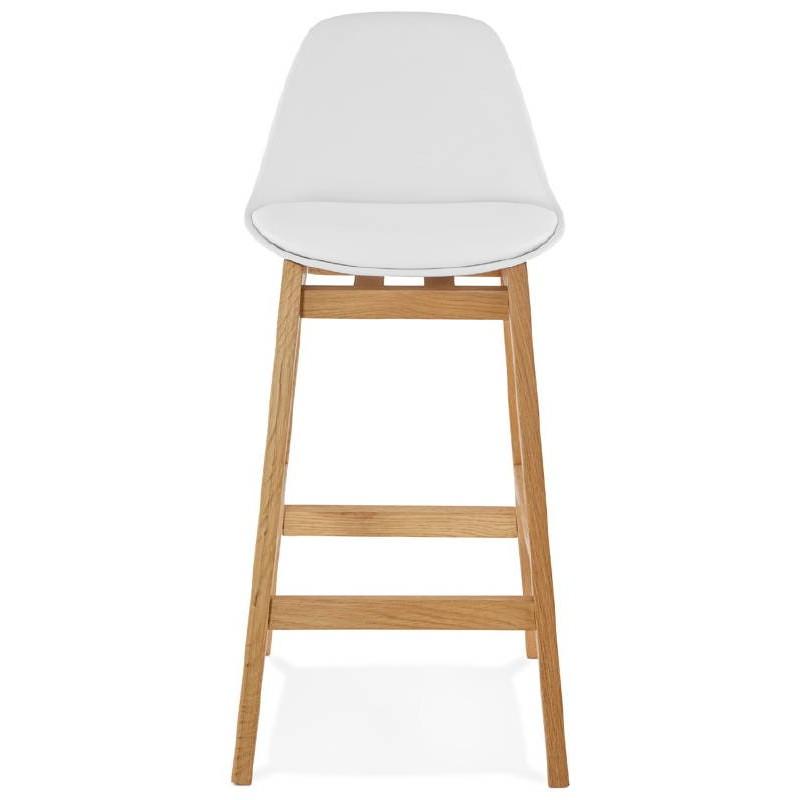 Tabouret de bar chaise de bar mi-hauteur design scandinave FLORENCE MINI (blanc) - image 37433