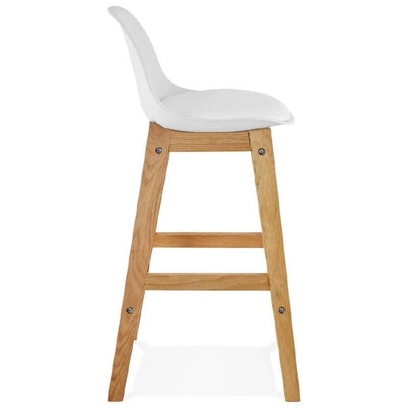 Tabouret de bar chaise de bar mi-hauteur design scandinave FLORENCE MINI (blanc) - image 37434
