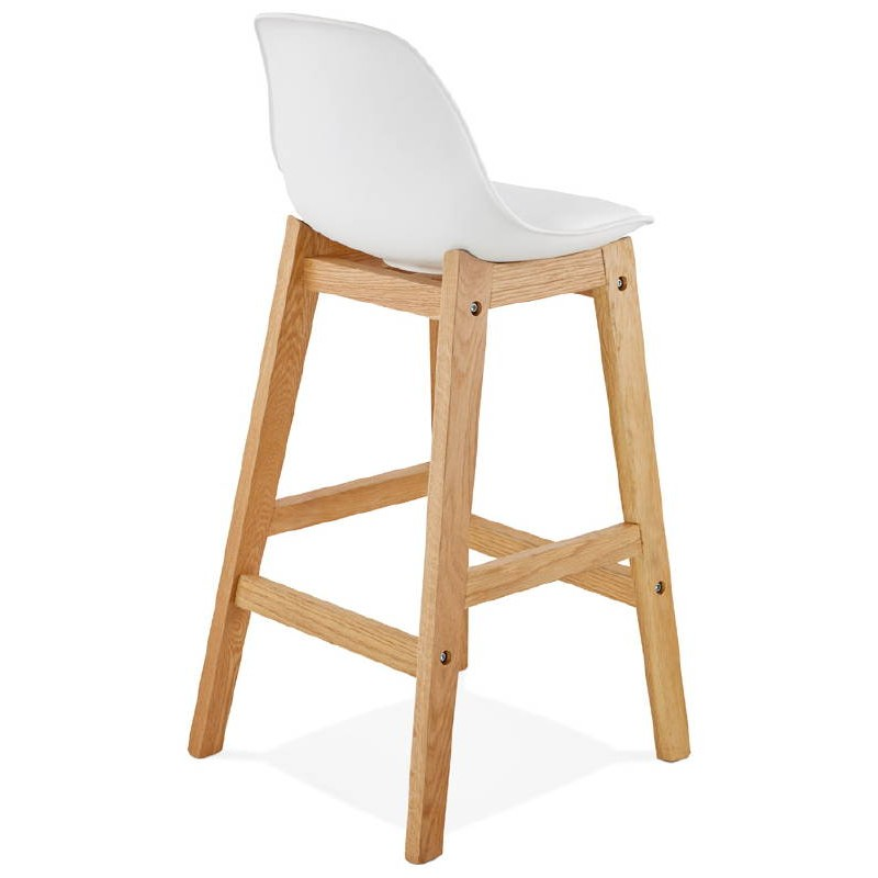 tabouret de bar chaise de bar mi hauteur design scandinave florence mini blanc. Black Bedroom Furniture Sets. Home Design Ideas