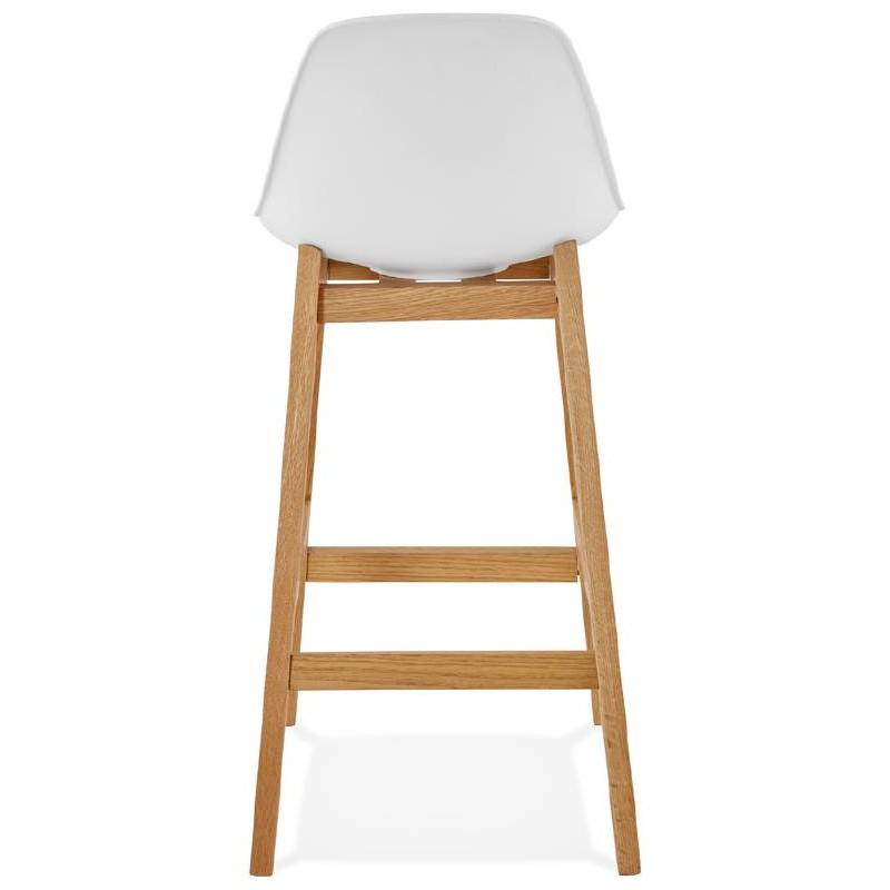 Tabouret de bar chaise de bar mi-hauteur design scandinave FLORENCE MINI (blanc) - image 37436