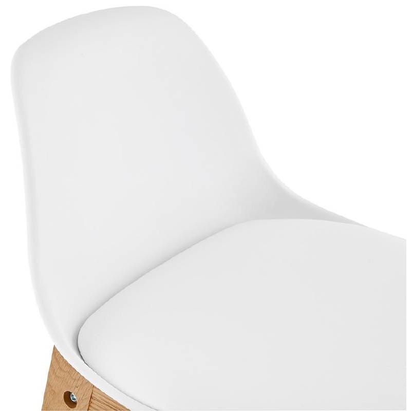 Tabouret de bar chaise de bar mi-hauteur design scandinave FLORENCE MINI (blanc) - image 37437