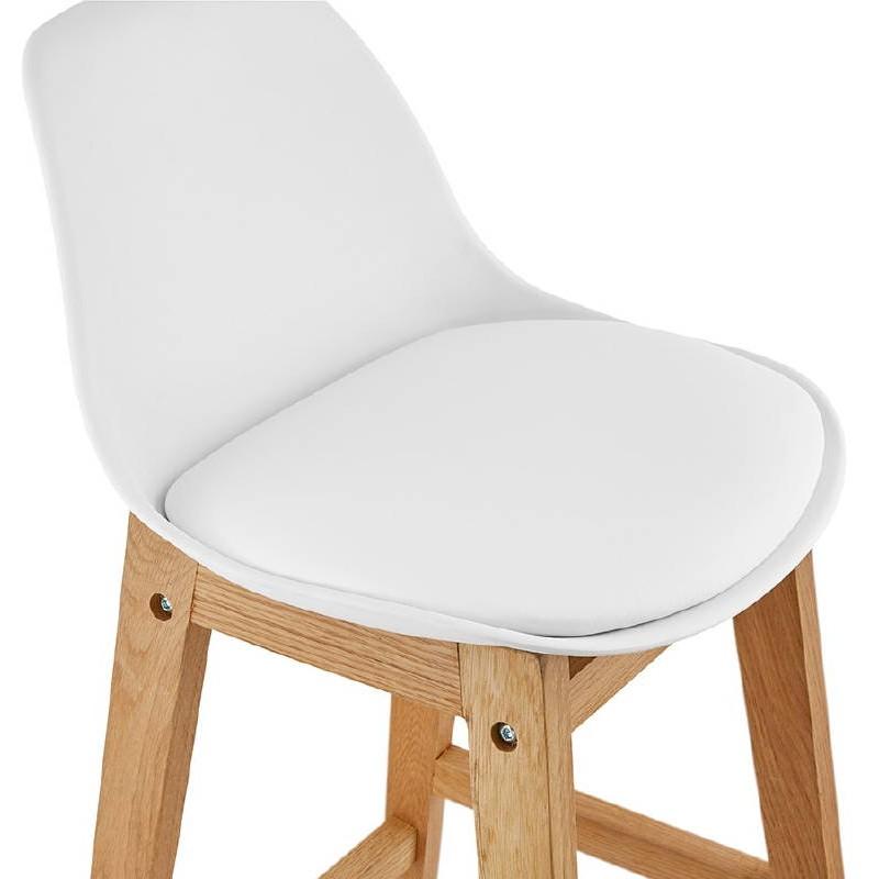 Tabouret de bar chaise de bar mi-hauteur design scandinave FLORENCE MINI (blanc) - image 37438