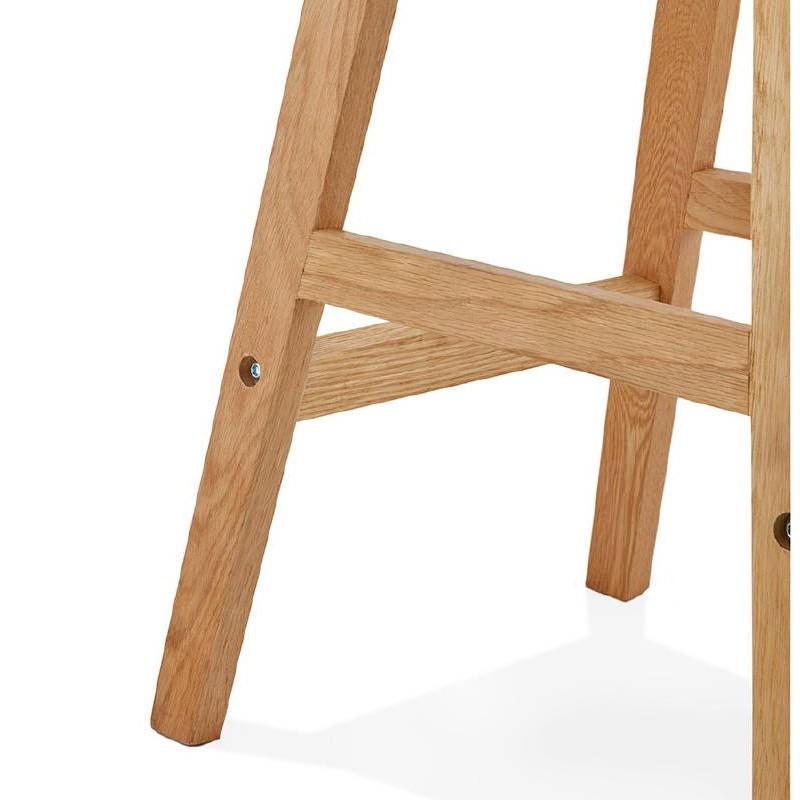 Tabouret de bar chaise de bar mi-hauteur design scandinave FLORENCE MINI (blanc) - image 37441