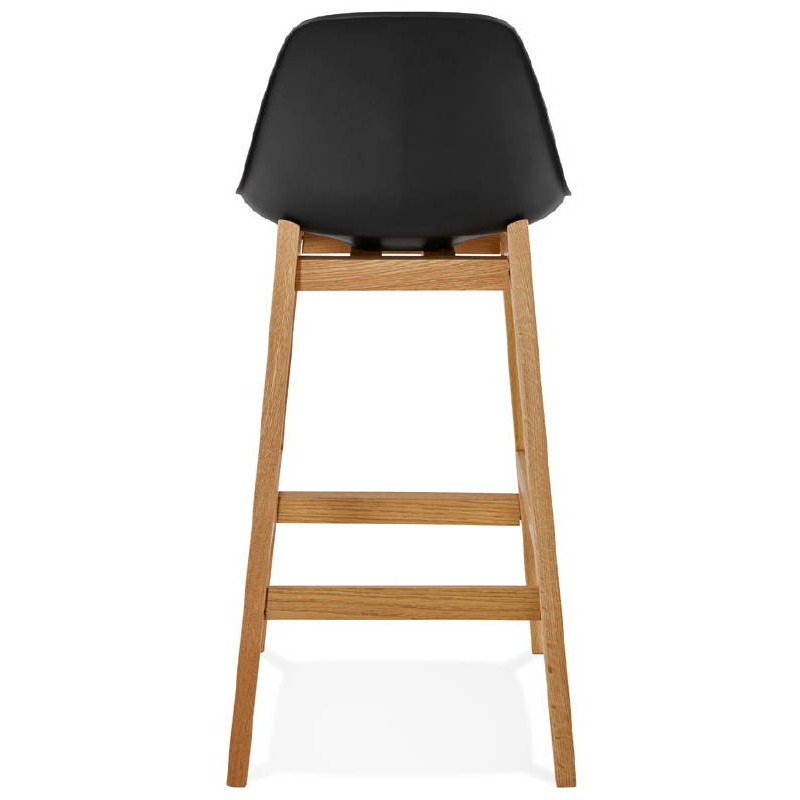 tabouret de bar chaise de bar mi hauteur design scandinave florence mini noir. Black Bedroom Furniture Sets. Home Design Ideas
