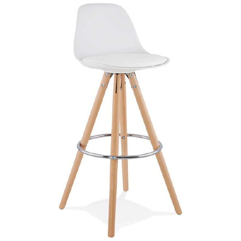 tabouret de bar design scandinave octave blanc. Black Bedroom Furniture Sets. Home Design Ideas