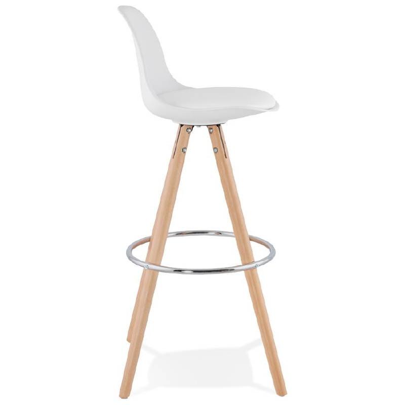 Tabouret de bar design scandinave OCTAVE (blanc) - image 37472