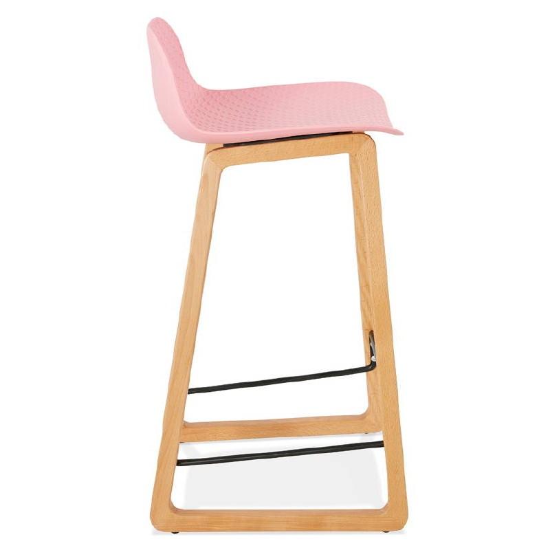 Tabouret de bar chaise de bar mi-hauteur scandinave SCARLETT MINI (rose poudré) - image 37486