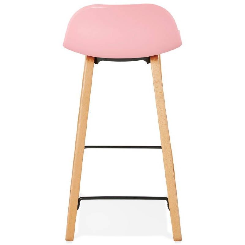 Tabouret de bar chaise de bar mi-hauteur scandinave SCARLETT MINI (rose poudré) - image 37488