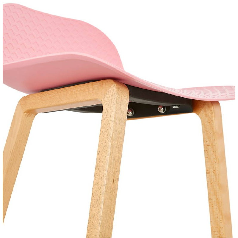 Tabouret de bar chaise de bar mi-hauteur scandinave SCARLETT MINI (rose poudré) - image 37490