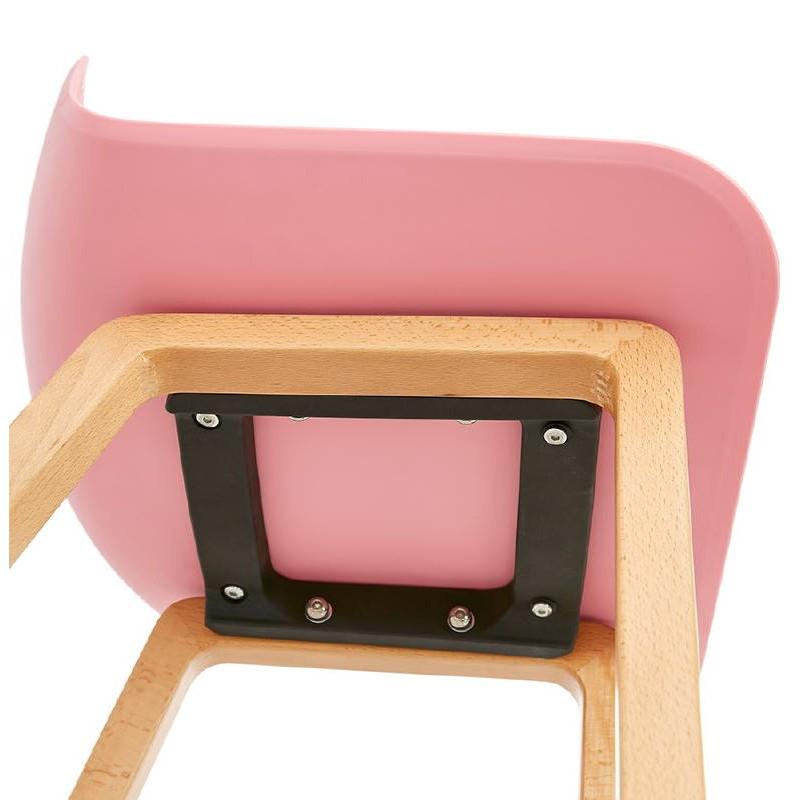 Tabouret de bar chaise de bar mi-hauteur scandinave SCARLETT MINI (rose poudré) - image 37492