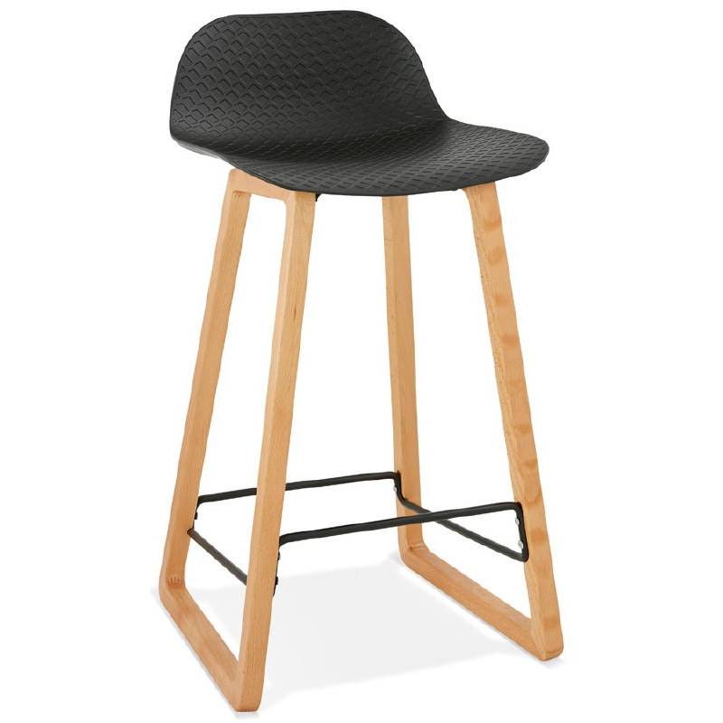 Tabouret de bar chaise de bar mi-hauteur scandinave SCARLETT MINI (noir) - image 37498