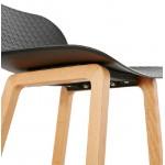 Tabouret de bar chaise de bar mi-hauteur scandinave SCARLETT MINI (noir)