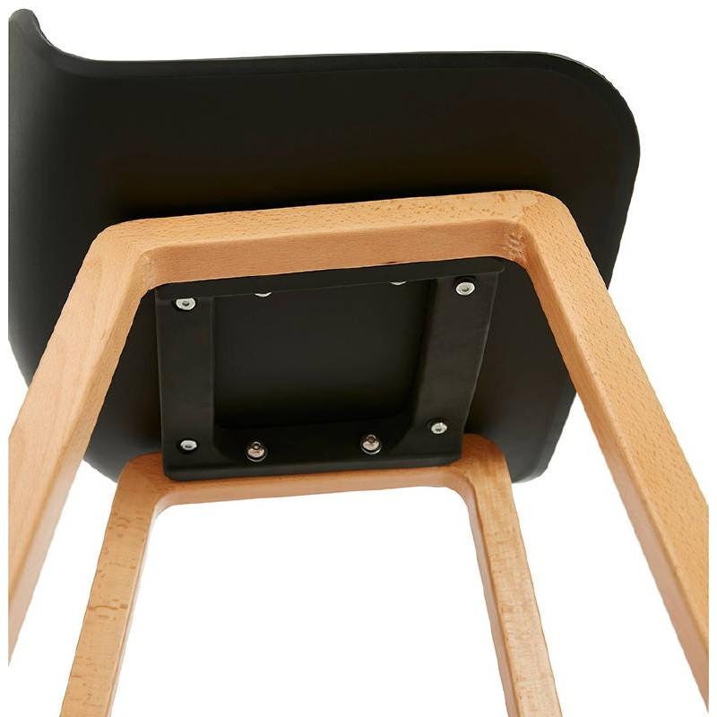 Tabouret de bar chaise de bar mi-hauteur scandinave SCARLETT MINI (noir) - image 37505