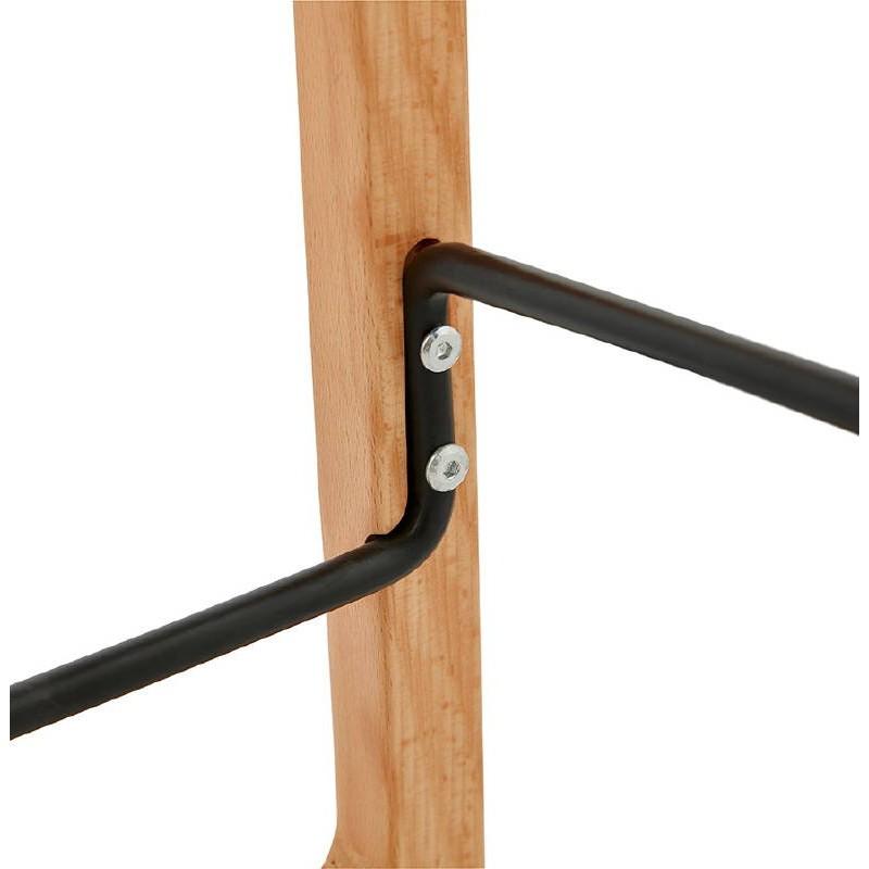Tabouret de bar chaise de bar mi-hauteur scandinave SCARLETT MINI (noir) - image 37507