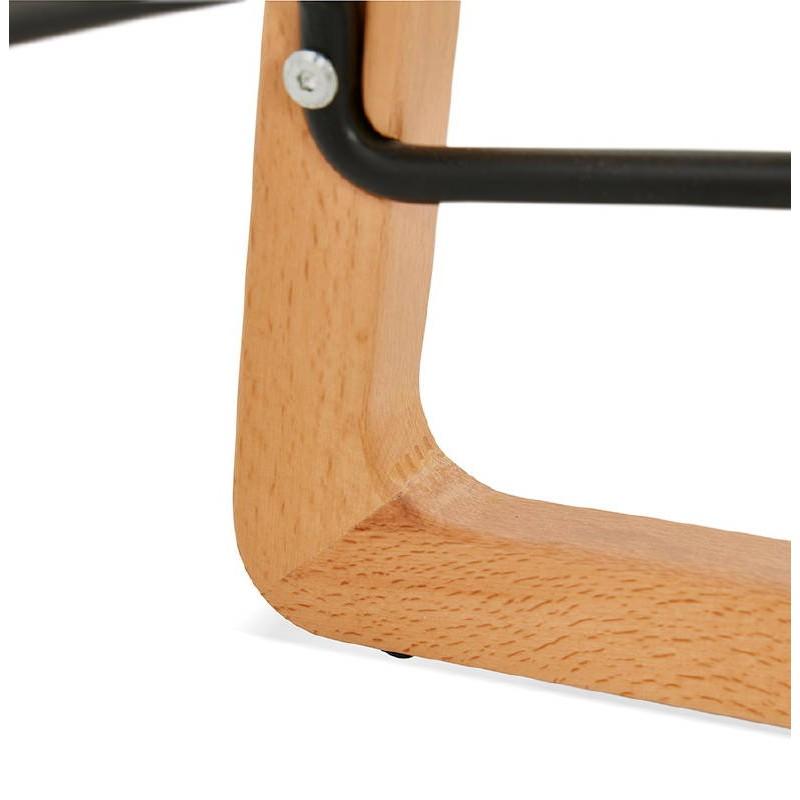 Tabouret de bar chaise de bar mi-hauteur scandinave SCARLETT MINI (noir) - image 37509