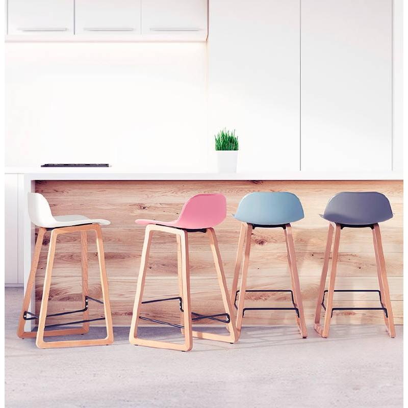 Tabouret de bar chaise de bar mi-hauteur scandinave SCARLETT MINI (noir) - image 37510