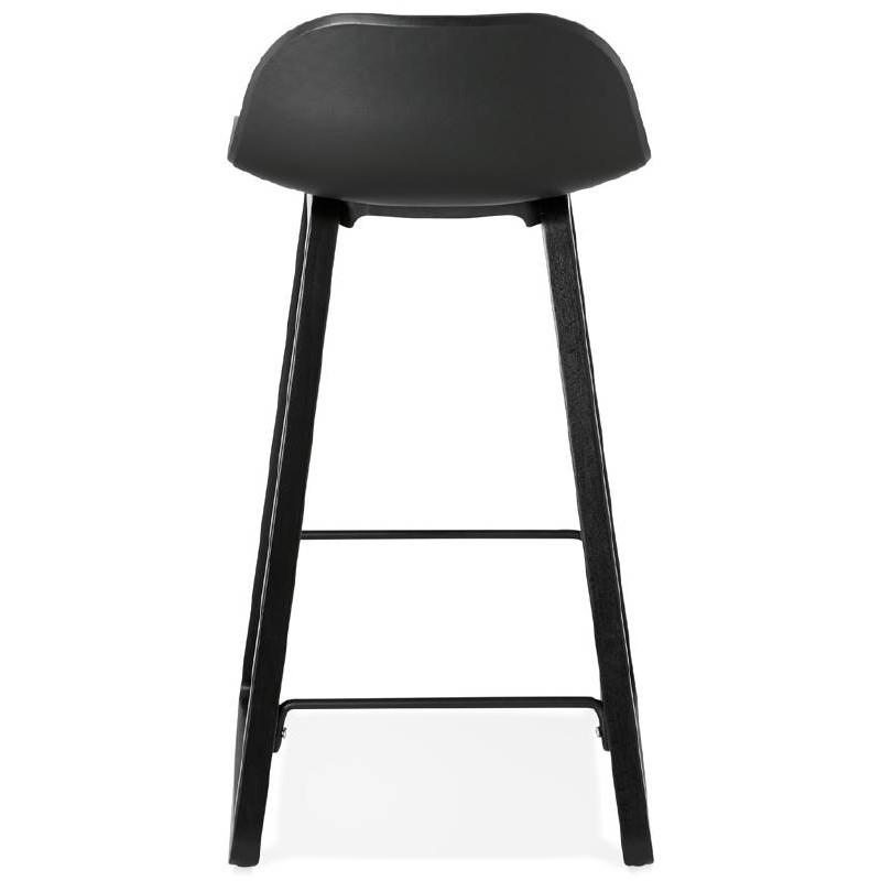 Tabouret de bar chaise de bar mi-hauteur design OBELINE MINI (noir) - image 37515