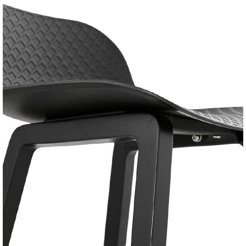 Tabouret de bar chaise de bar mi-hauteur design OBELINE MINI (noir) - image 37517