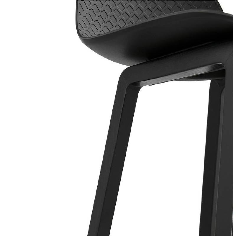 Tabouret de bar chaise de bar mi-hauteur design OBELINE MINI (noir) - image 37518