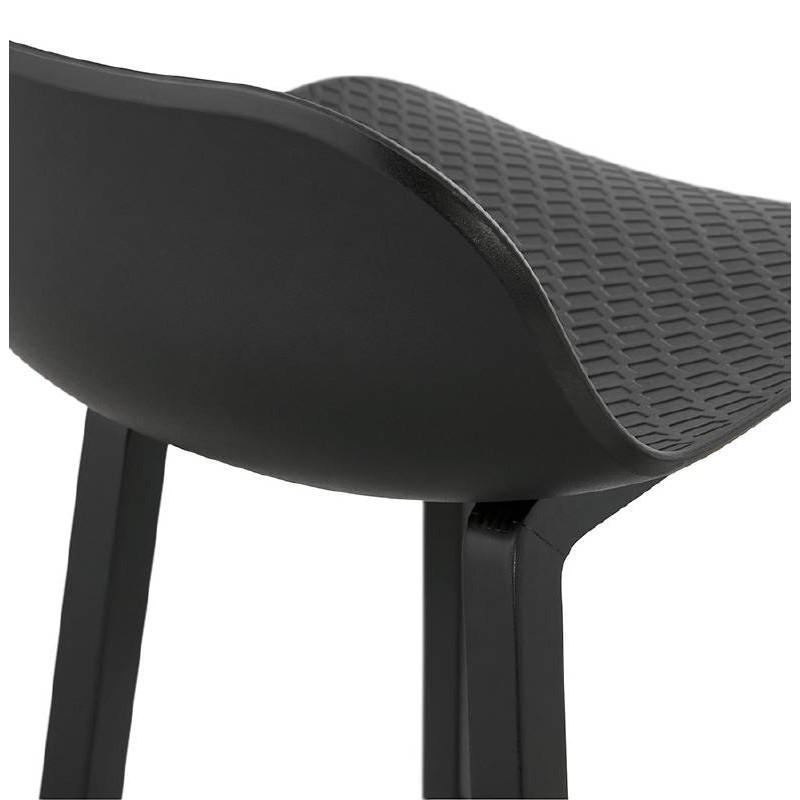 Tabouret de bar chaise de bar mi-hauteur design OBELINE MINI (noir) - image 37522