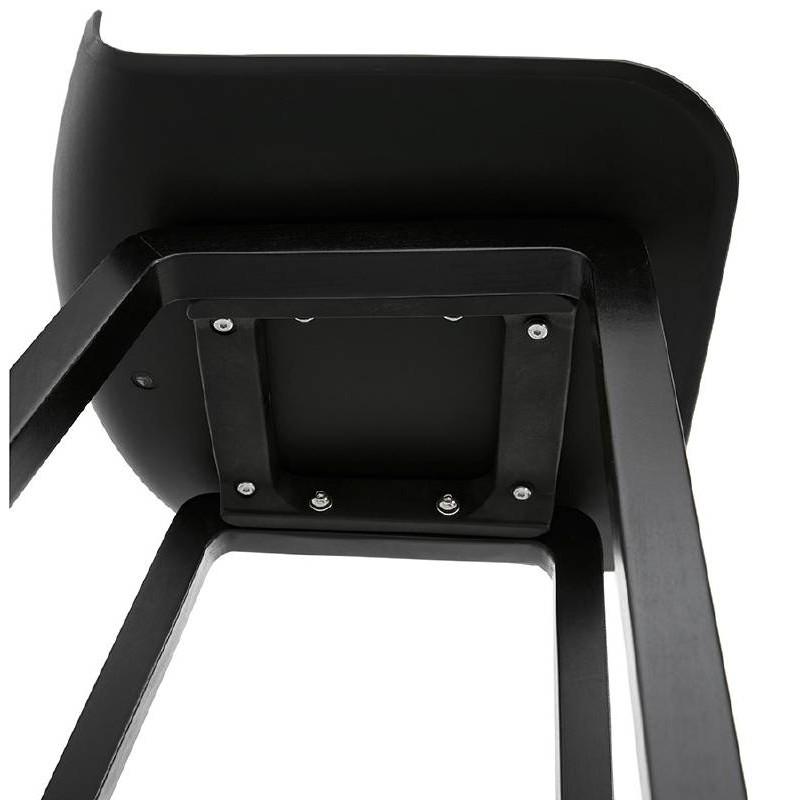 Tabouret de bar chaise de bar mi-hauteur design OBELINE MINI (noir) - image 37523