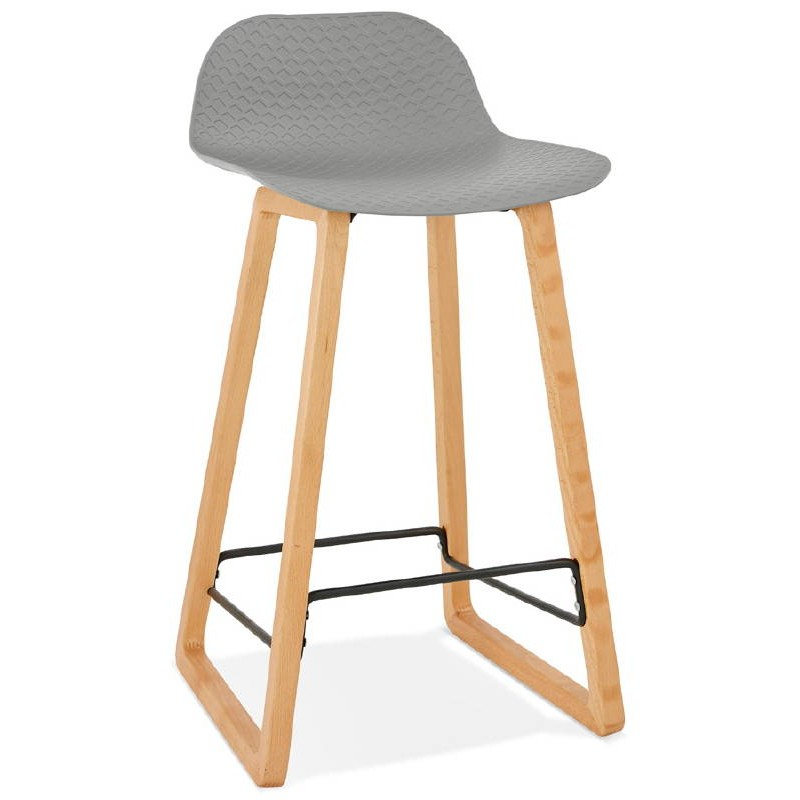 tabouret de bar chaise de bar mi hauteur scandinave scarlett mini gris clair. Black Bedroom Furniture Sets. Home Design Ideas