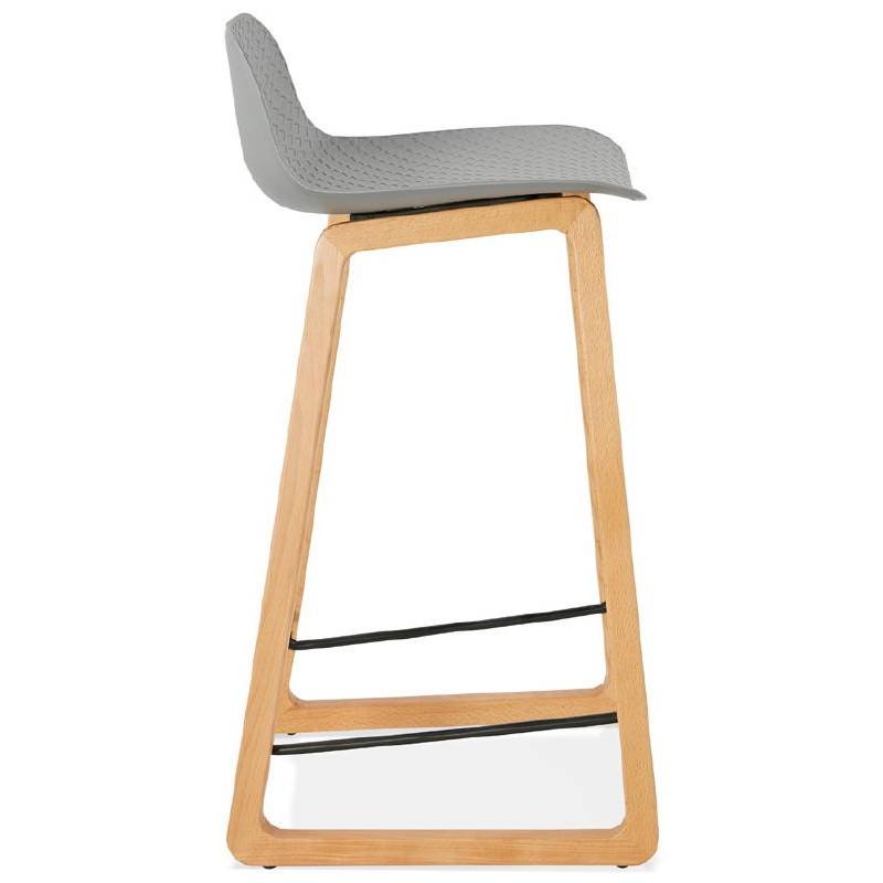 Tabouret de bar chaise de bar mi-hauteur scandinave SCARLETT MINI (gris clair) - image 37526