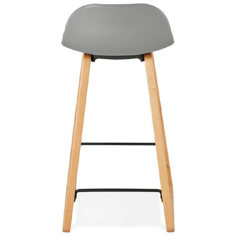 Tabouret de bar chaise de bar mi-hauteur scandinave SCARLETT MINI (gris clair) - image 37528