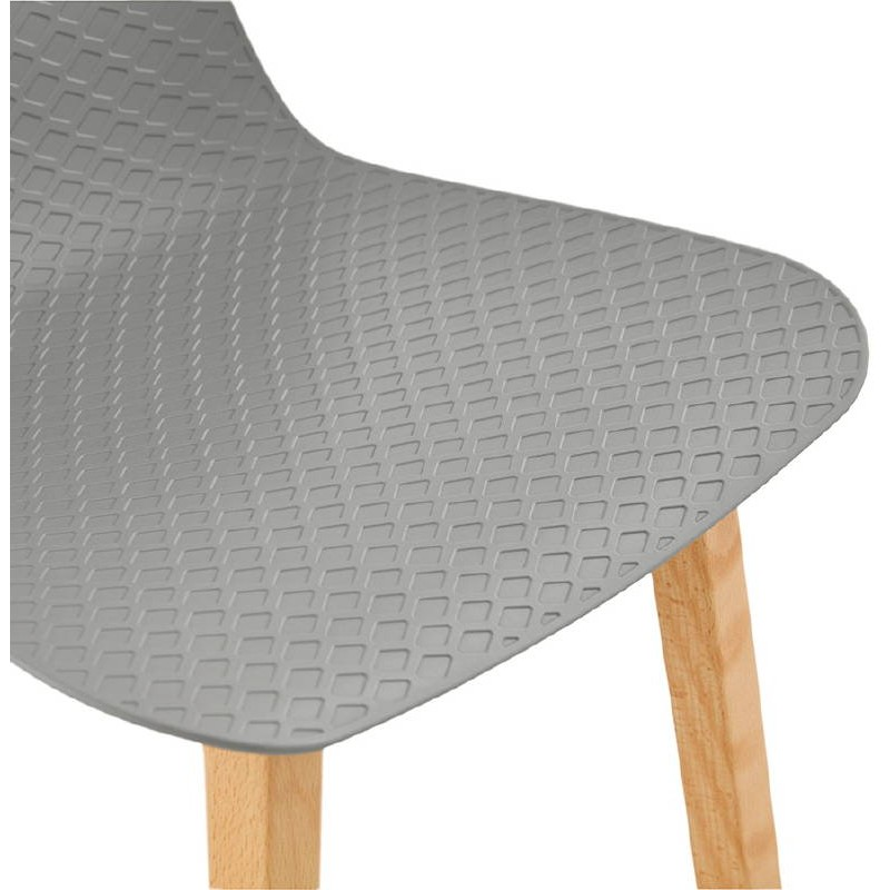 Tabouret de bar chaise de bar mi-hauteur scandinave SCARLETT MINI (gris clair) - image 37529