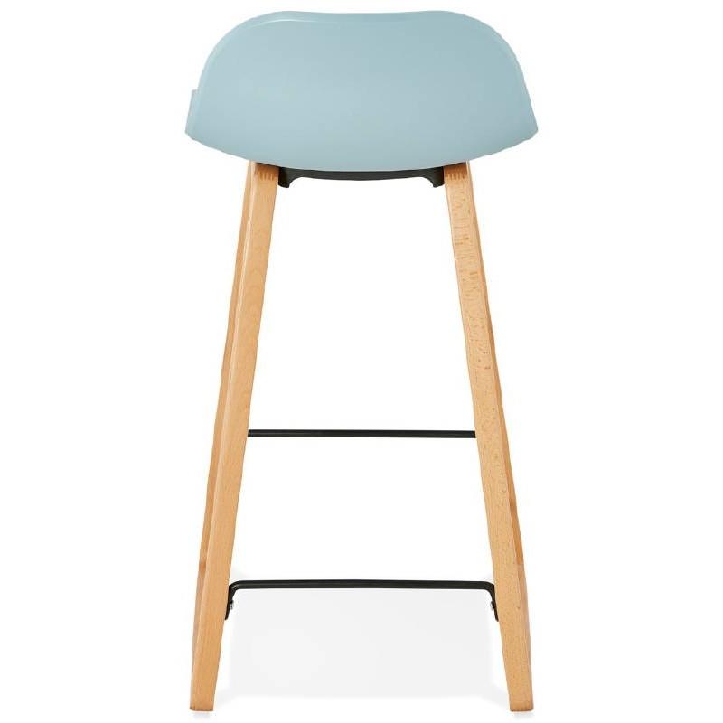Tabouret de bar chaise de bar mi-hauteur scandinave SCARLETT MINI (bleu ciel) - image 37542