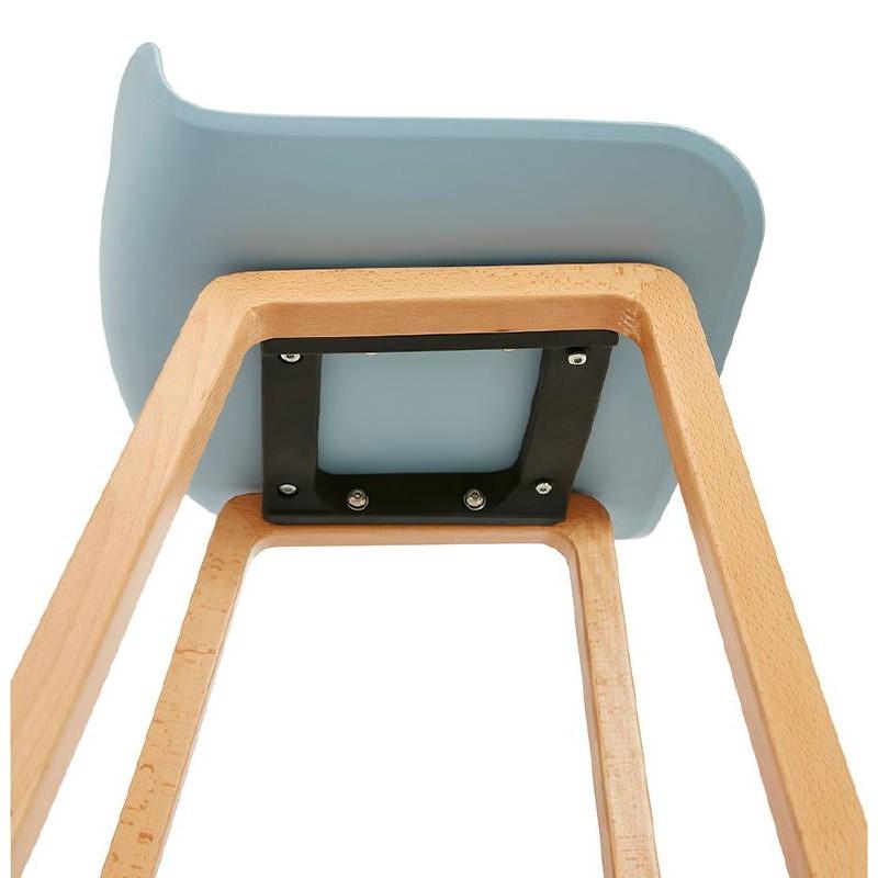 Tabouret de bar chaise de bar mi-hauteur scandinave SCARLETT MINI (bleu ciel) - image 37547