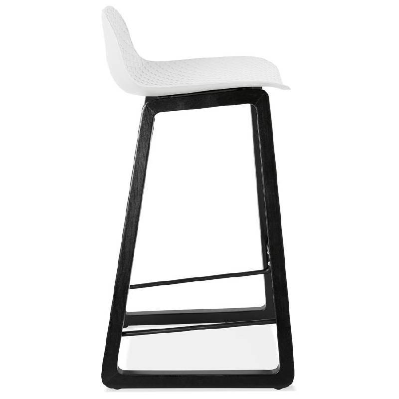 Tabouret de bar chaise de bar mi-hauteur design OBELINE MINI (blanc) - image 37555