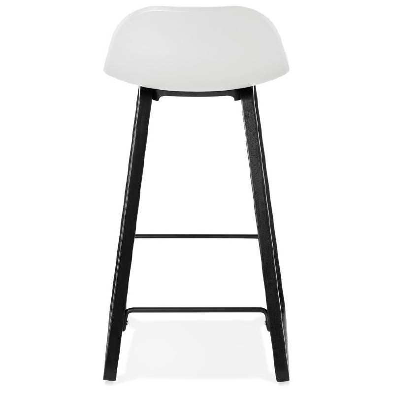 tabouret de bar chaise de bar mi hauteur design obeline mini blanc. Black Bedroom Furniture Sets. Home Design Ideas