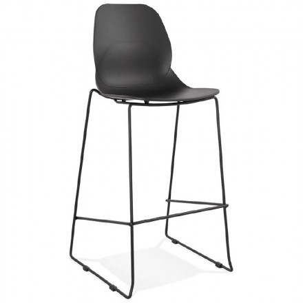 Industrial bar stackable JULIETTE (black) Chair bar stool