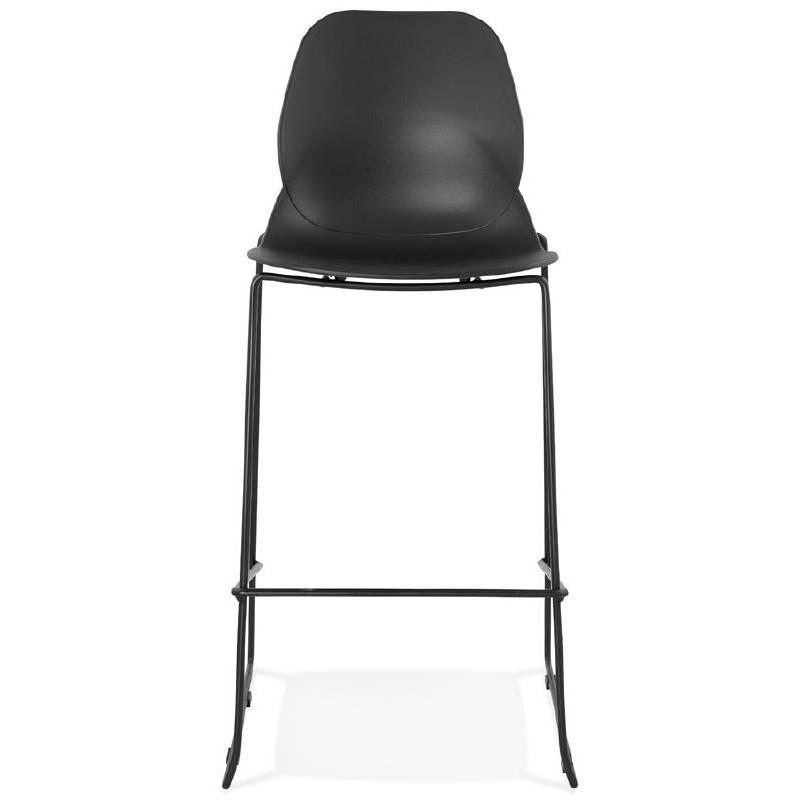 Tabouret de bar chaise de bar industriel empilable JULIETTE (noir) - image 37579