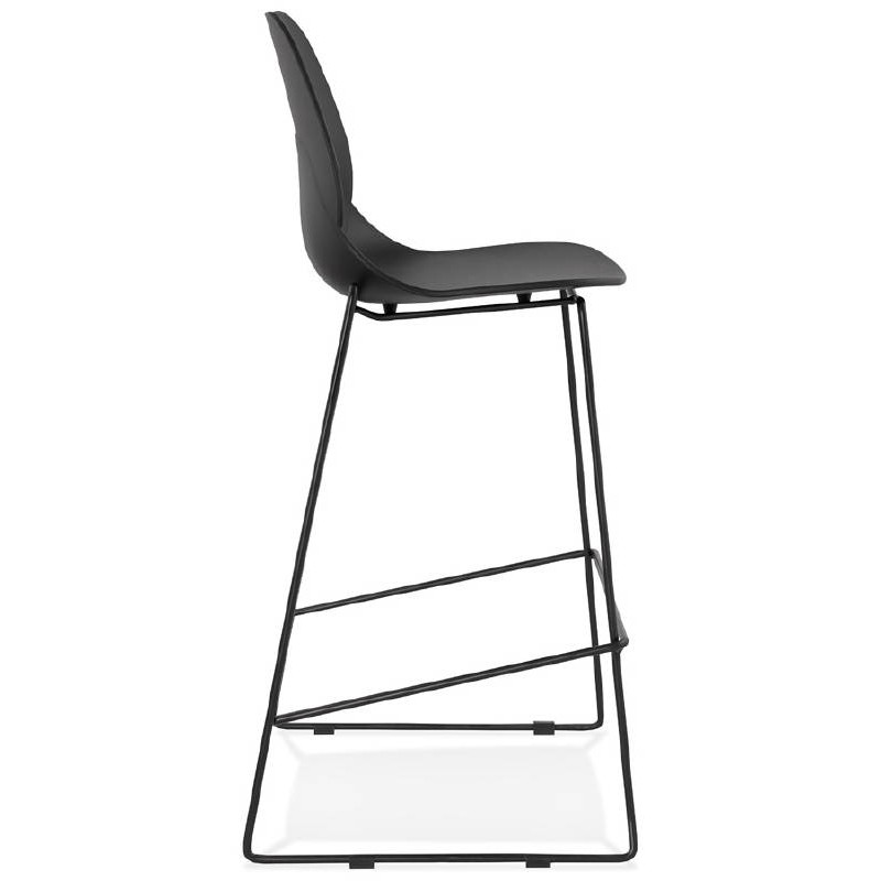 Tabouret de bar chaise de bar industriel empilable JULIETTE (noir) - image 37580