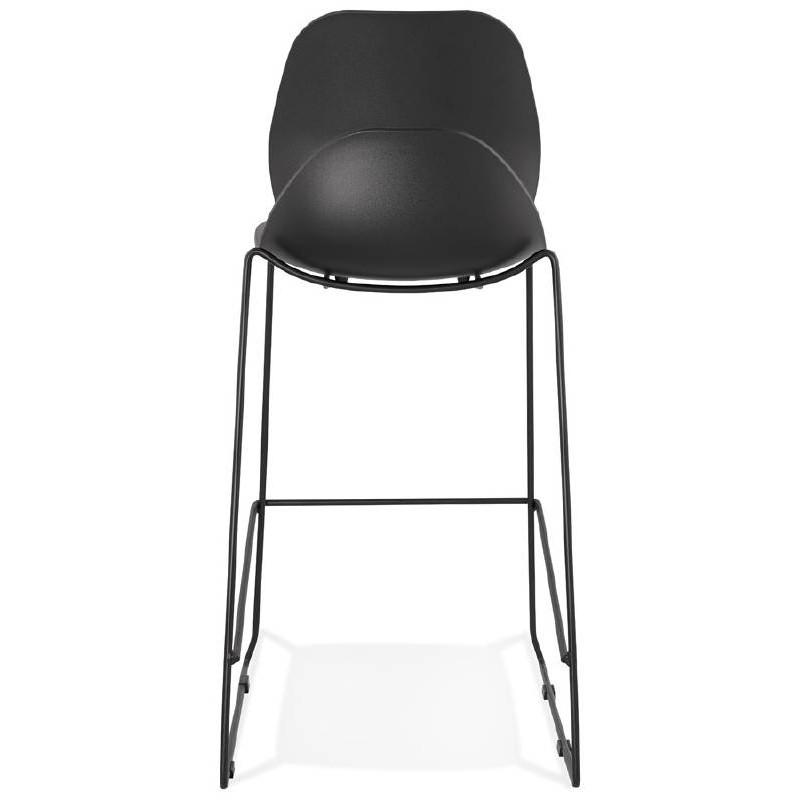 Tabouret de bar chaise de bar industriel empilable JULIETTE (noir) - image 37582