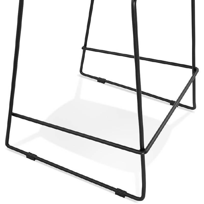 Tabouret de bar chaise de bar industriel empilable JULIETTE (noir) - image 37586