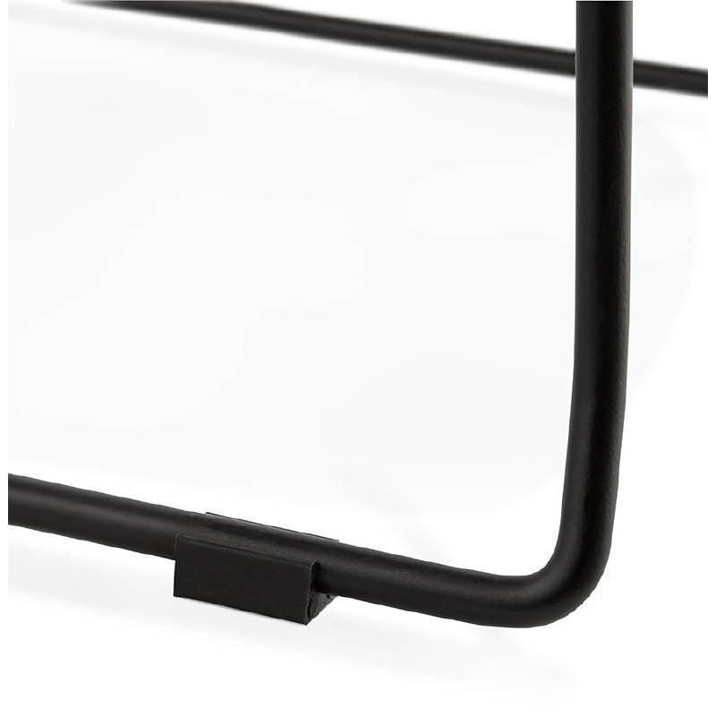 Tabouret de bar chaise de bar industriel empilable JULIETTE (noir) - image 37591